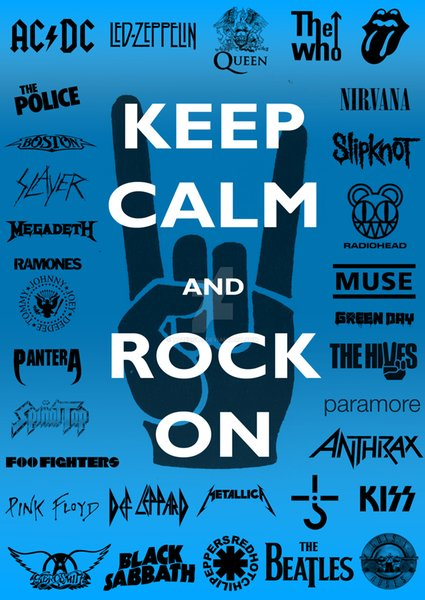 keep calm and rock on poster Flag Music Banner 150CM*90CM 3*5FT Polyester Custom Banner Sports Flag A