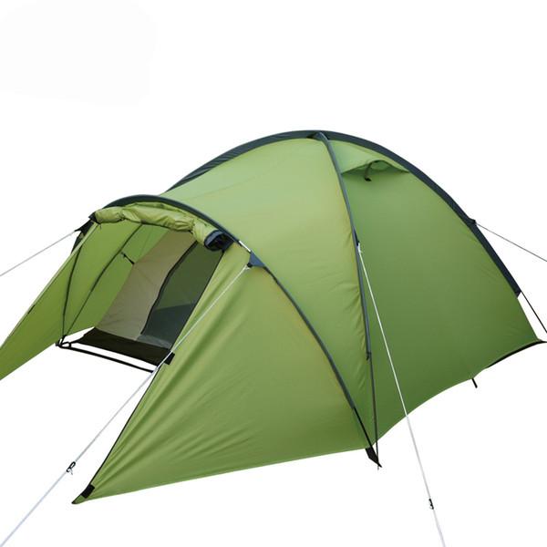 Yüksek kaliteli profesyonel kamp çadırı için uygun 2-3persons çift katmanlı anti büyük yağmur 1 hall 1room açık aile çadır