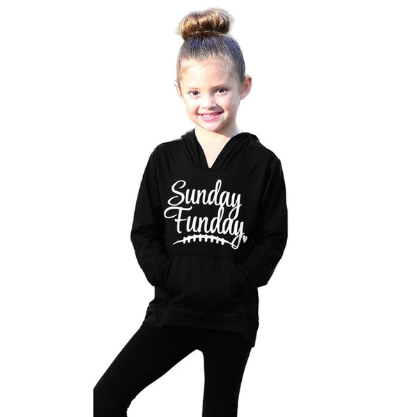 Child Sweater Children's Running Jacket Mommy Me Child Girls Boys Long Sleeves Letter Hooded Sweatershirt Family Clothes #2O19#F