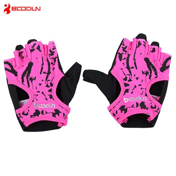 BOODUN 7150694 парные женщины Бодибилдинг тренажерный зал гантели спорт йога половина перчатки пальцев легкий, мягкий и проветривать