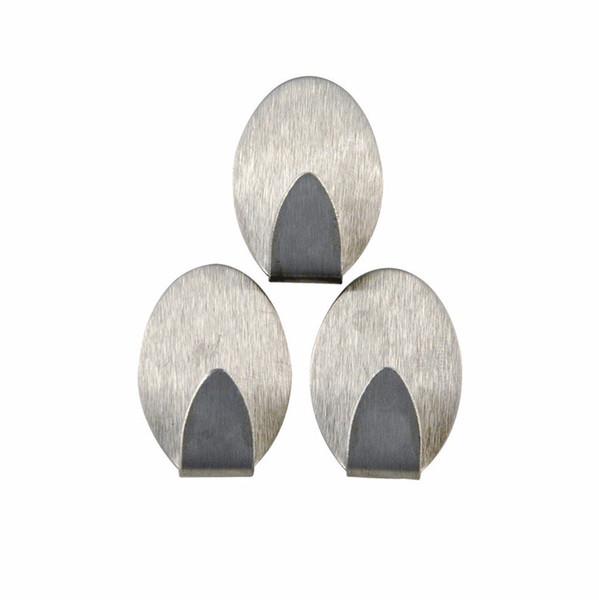 Stainless Steel Self Adhesive Hooks Tiles Glass Strong Sticky bag holder hanging hook Toilet Kitchen Bathroom Holder Racks