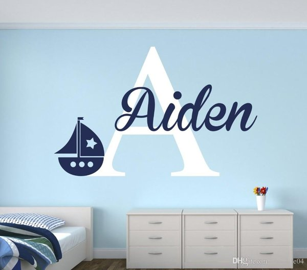 YOYOYU Personalized Name Baby Nursery Room Wall Sticker Custom Name For Girl and Boy Wall Decal Nursery Mural Poster