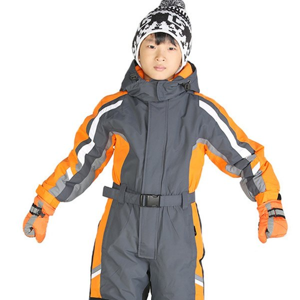 Unisex-Kids-039-One-Piece-Snowsuit-For-Boy-Girl-Bambini-Antivento-Impermeabile Unisex-Kids-039-One-Piece-Snowsuit-For-Boy-Girl-
