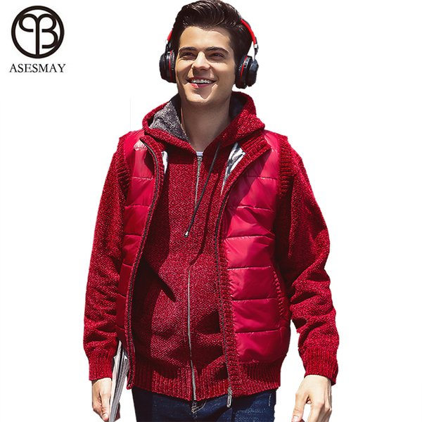 Asesmay New Stylish Autumn Winter Vest Men High Quality Hood Warm Sleeveless Jacket Waistcoat Men's Vest Fashion Casual coats