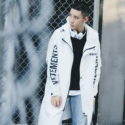 GD Waterproof Raincoat Multi-function Fashion Sun Protection Hooded Zipper Trench Windbreaker Men Coat 3 Colors