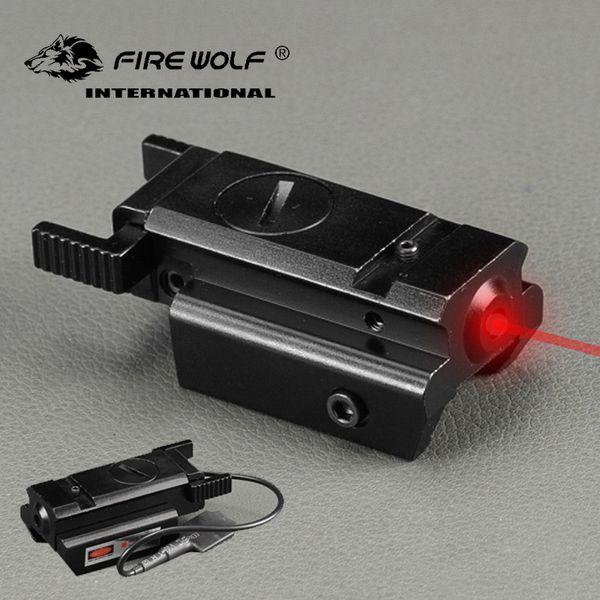 FIRE WOLF Compact Jagd Tactical Roter Punkt-Laser-Anblickbereich mit Druckschalter
