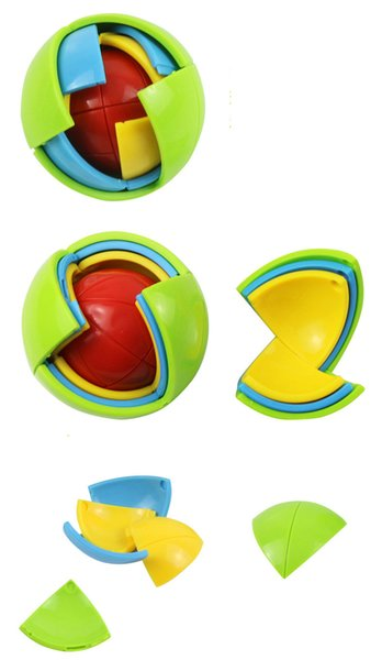 Wisdom Ball 3D Intelligence Magaic Ball Game Puzzle Ball Educational Toys for Kids IQ Training blocks toy smart maze DIY gift 3pcs