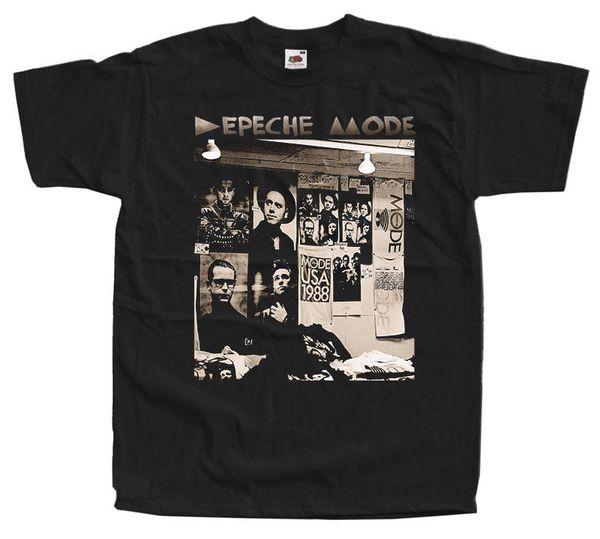 Depeche Mode - 101 ( 1988 ) Dm Черная Футболка 100% Хлопок Футболка Летняя Новинка Мультфильм Футболка