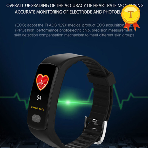 Color Screen ECG ppg healthy Smart Band Bracelet Heart Rate Blood Pressure WristBand Sport band Watch for Android iOS