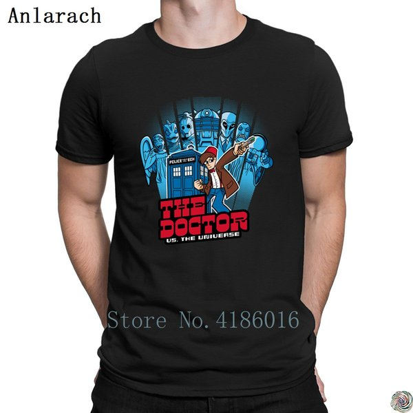 The Doctor Universe 11th Edition t-shirts Free Shipping Tee top Summer Style men's tshirt Basic Solid personalized Standard