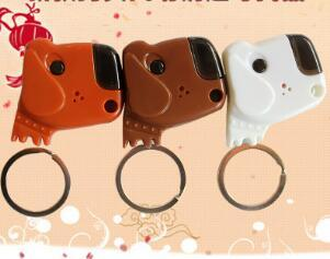 Dog Head Intelligent Key Anti-lost Whistle Keychain Finder Audio Sensor Personal Alarm Finder LED the LED blinking light to make it easy to