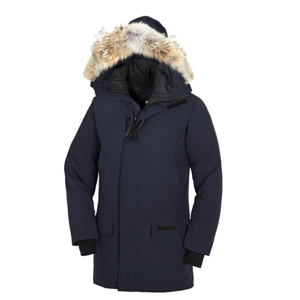 hot sale Brand 2018 New Mens thick Goose Down Fire Rhinoceros CHATEAU Parka Coat Winter Warm Jacket