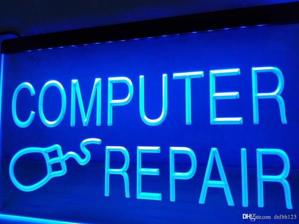 LB469- Insegna luminosa al neon LED per riparazione computer Internet LED