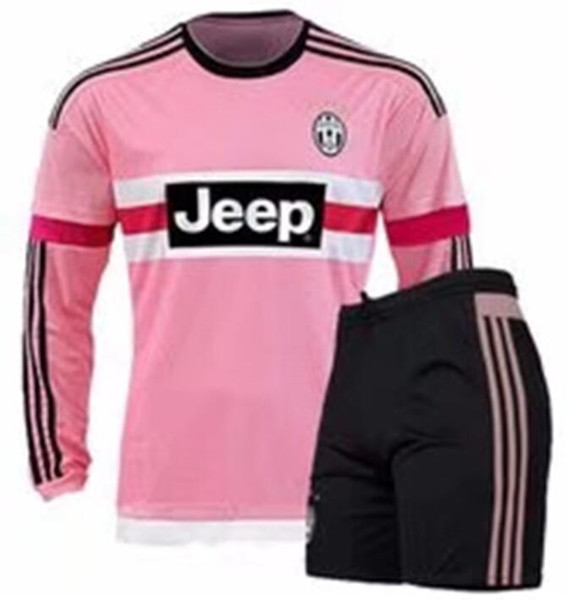 new arrival ed7ce eed89 2019 2016 Long Sleeve Italy JUVENTUS Pink POGBA SOCCER JERSEYS Kit 15 16  DYBALA MANEZUKIC MORATA HIGUAIN MARCHISIO BUFFON Pink MEN FOOBALL SHIRT  From ...