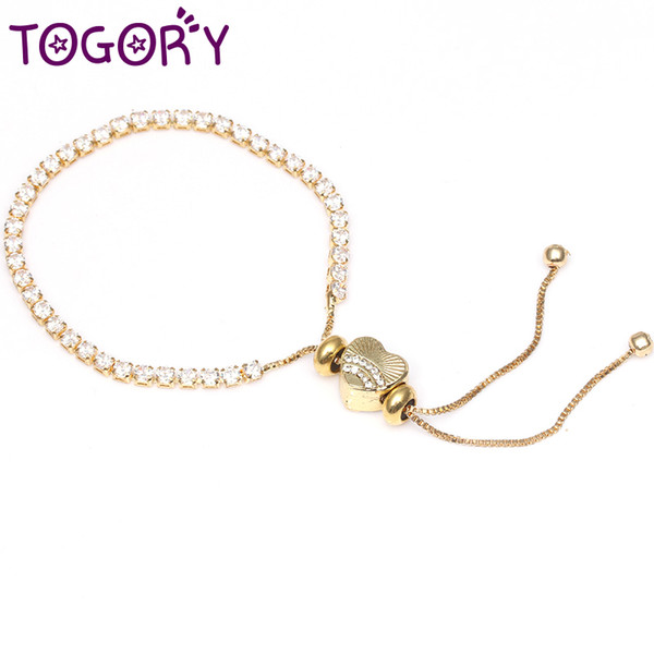 c2286c8992e3f TOGORY 2018 Summer Cubic Zircon Gold Color Sparkling Strand Bracelet Fit  Original Women Fine Bead Charm Bangle DIY Jewelry Silver Bracelets For  Women ...