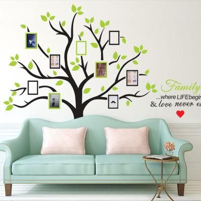 Wholesale 216*209cm Photo Tree Wall Stickers with Picture Frame Wallpaper Wall Art for Home Decor Kitchen Accessories Household Suppllies