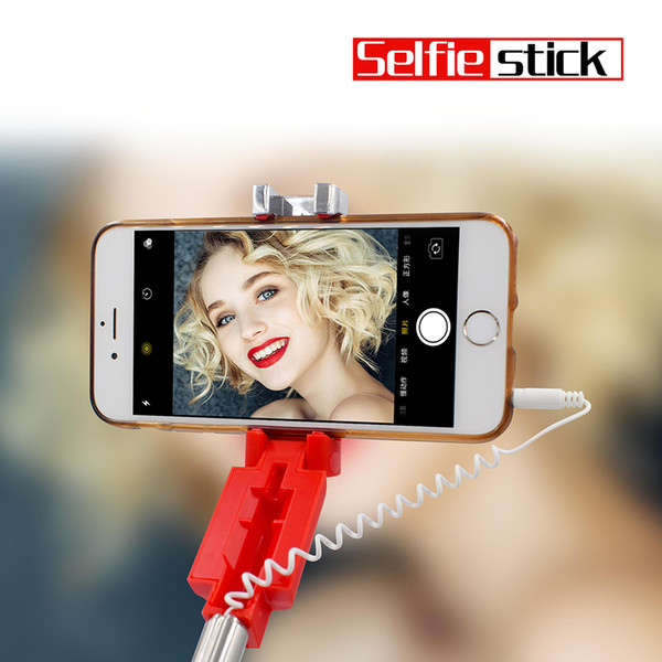 ONESAM Mini Selfie Stick Universal Rotatable Foldable Portable Extendable Bluetooth Wired Selfie Monopods For iPhones Samsung OS-F11