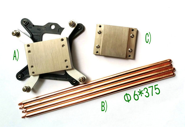 1150 1151 1155 platform heat conduction system with 4PCS 6X375 heat pipes