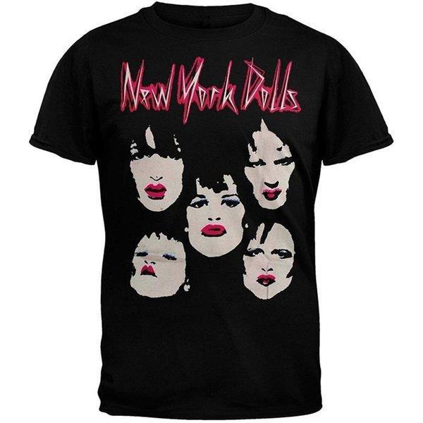 Custom Tee Shirts Men'S Short New York Dolls - Faces Soft Crew Neck Zomer T Shirts