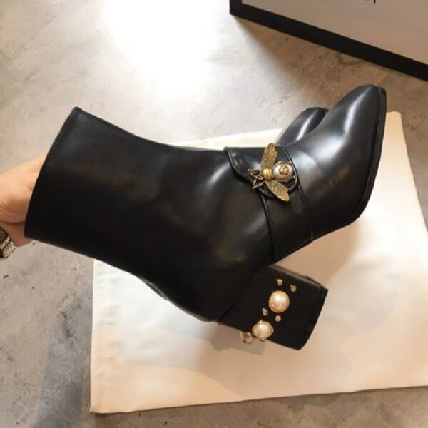 7.5 cm Martin çizmeler moda üst tasarımcı kadın botları tarzı rahat açık ayakkabı lüks üst marka fabrika doğrudan satış