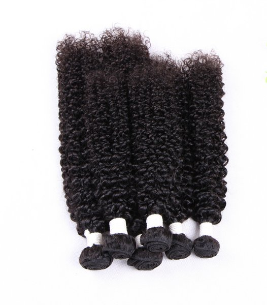 Elibess Brand Remy Hair Jerry Kinky Curly Virgin Hair Tight Curly Weave 3pieces Lot Cheap price Human Hair Bundles, free Shipping