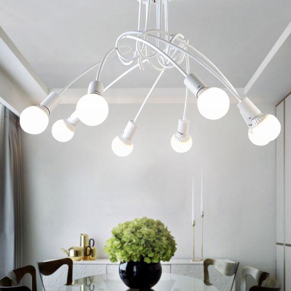 Großhandel Amerikanische Schmiedeeisen LED Deckenleuchten Wohnzimmer  Moderne E27 Deckenleuchte Dekoration Home Beleuchtung Weiß Schwarz Lampen  Von ...