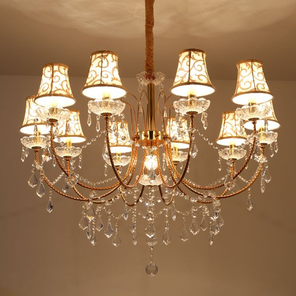 Gold crystal chandelier 8 lights contemporary ceiling chandelier modern candle crystal chandeliers murano venetian style chandelier