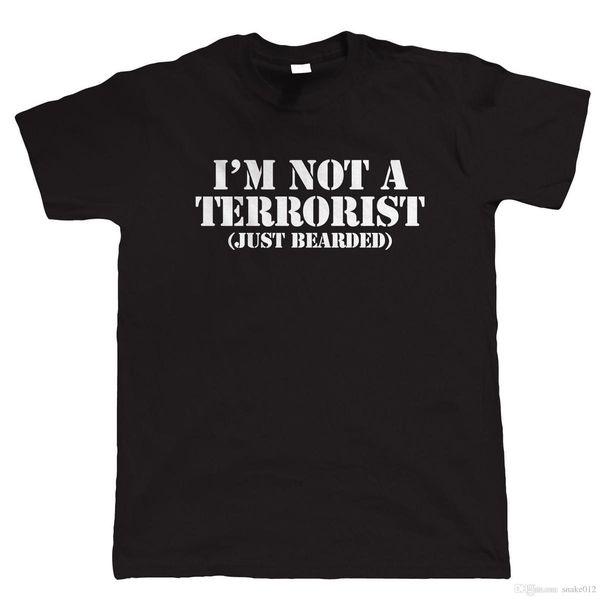 Я не террорист, мужская смешная борода футболка, хипстер Movember подарок для папы