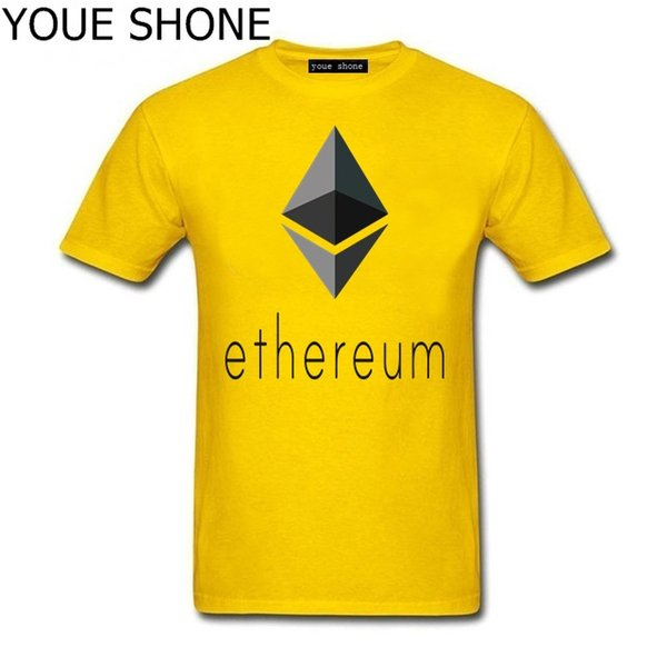 Ethereum Logosu T-Shirt Homme Kısa Kollu tee kazak Yaz Bitcoin Komik T Shirt 3D erkekler Ethereum Sanal Para Eğlence T-shirt T