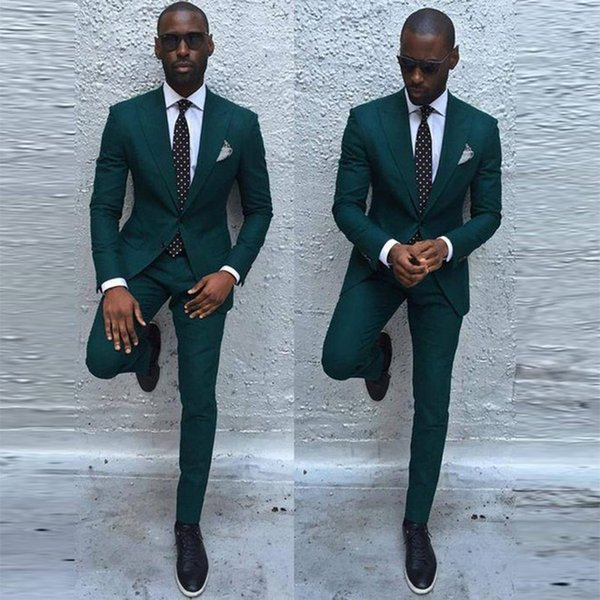 Costume Homme Green wedding suits for men slim fit Groom Suit Custom Made mens suits designers 2018 traje formal hombre 2 pieces