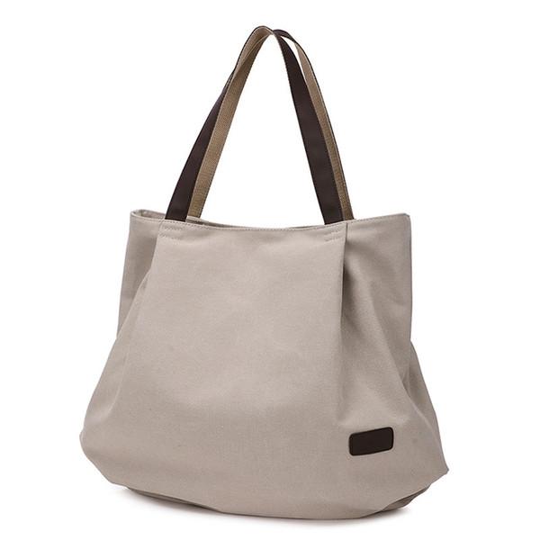 2018 new simple ladies bag canvas bag big female Sen shoulder art hand-held large capacity cloth handbags