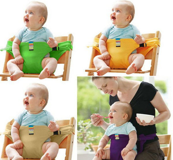 top popular Baby Chair Portable Infant Seat Product Dining Lunch Chair Seat Safety Belt Feeding High Chair Harness Baby chair seat 8 colors C4180 2021