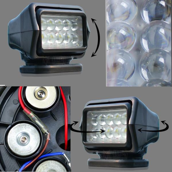 Proyector al aire libre impermeable brillante estupendo teledirigido del control de la luz del punto ligero de 50W LED para el coche del infante de marina del camión