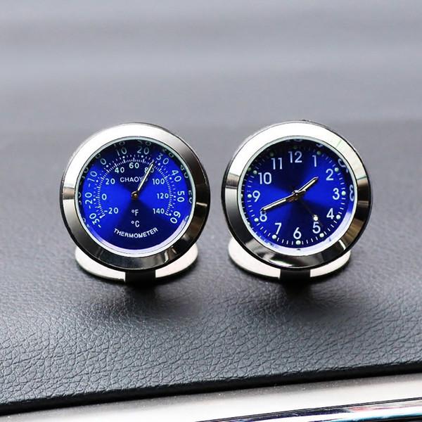 Voiture Ornement Creative Lumineux Horloge Thermomètre De Mode Automobile Auto Intérieur Numérique Pointeur Montre Accessoires De Décoration