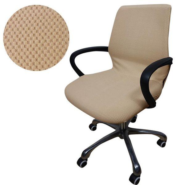 Jacquard überprüft Computer Büro Stuhlabdeckung Seitlichem Reißverschluss Arm Stuhlabdeckung sitz Schutzhülle Stretch Rotierenden Aufzug Stuhlhussen
