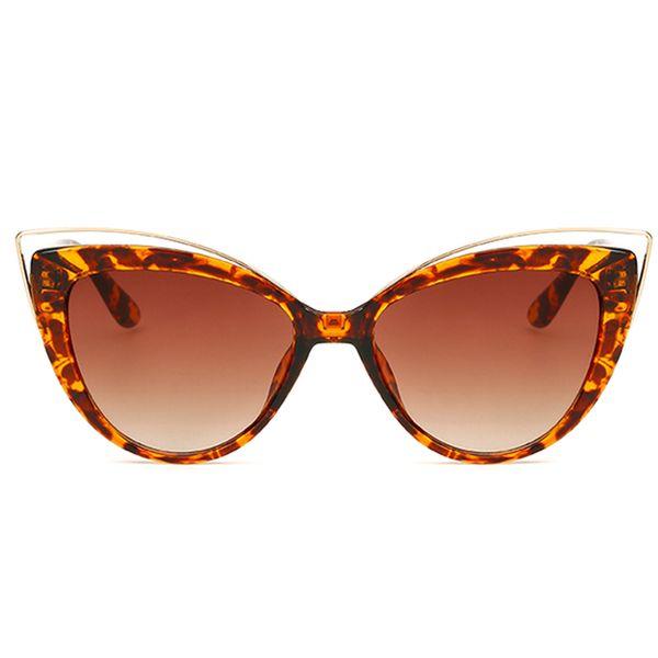 Il più nuovo progettista di marca Specchio Occhiali da sole Retro Vintage Oftize Kitty Occhiali da sole per donna Donna Cateye Eyewear Glass Lady