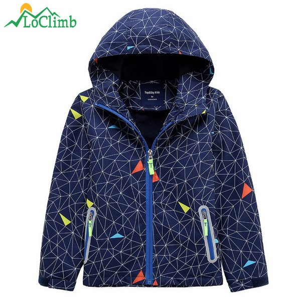 c18dd0ca2 2019 LoClimb Safely Reflective Children Hiking Jacket For Boys Girls ...