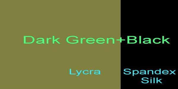 Темно-зеленый + черный