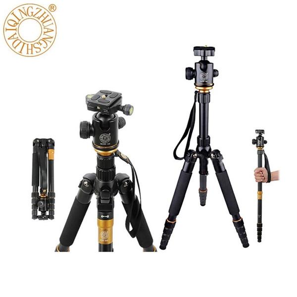 QZSD Q666 Trépied pour appareil photo 360 degrés pivotant rotule fluide rotule 1,5 kg portant l'accessoire universel pour DSLR DV Camcorder