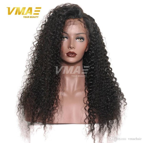 150% Density Curly Lace Frontal Human Hair Wigs For Black Women Full lace wig Pre Plucked Natural Hairline With Baby Hair VMAE Hair