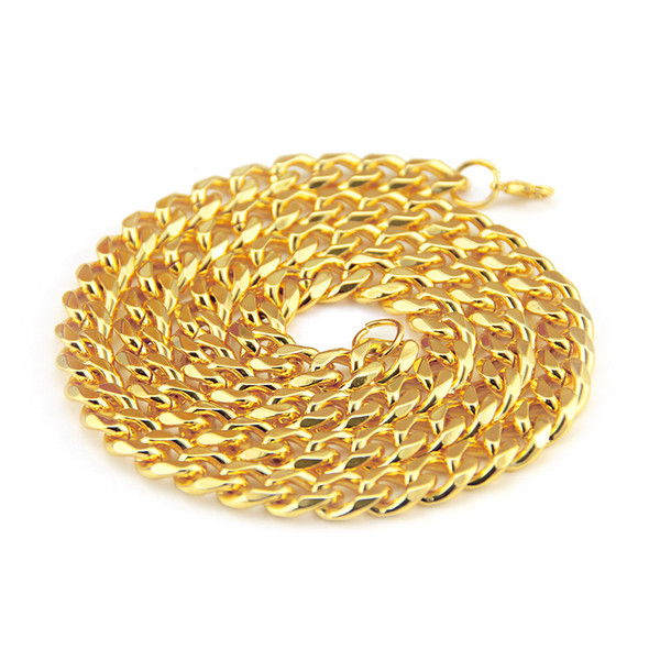 New model Hiphop necklace gold chains plated Eco-friendly Zinc alloy material hip-hop rap style gold chains men jewelry wholesale