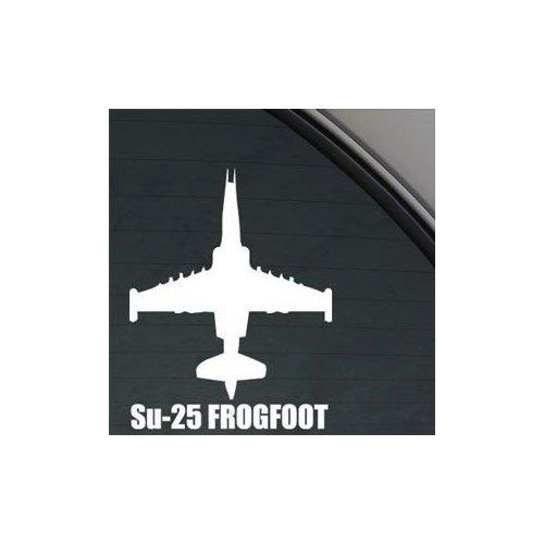 Car Styling for Su-25 Frogfoot Military Soldier White Color Car Helmet Laptop Decoration Wall Art Notebook Car Decor Auto Window