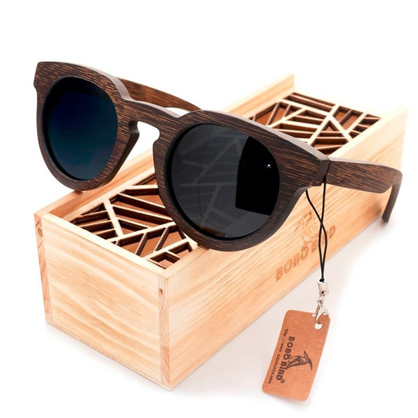 BOBO BIRD Luxury Brand Polarized Lens Sun Glasses Women Beach Wood Sunglasses Men with Wooden Box Steampunk C-BG012 D18102305