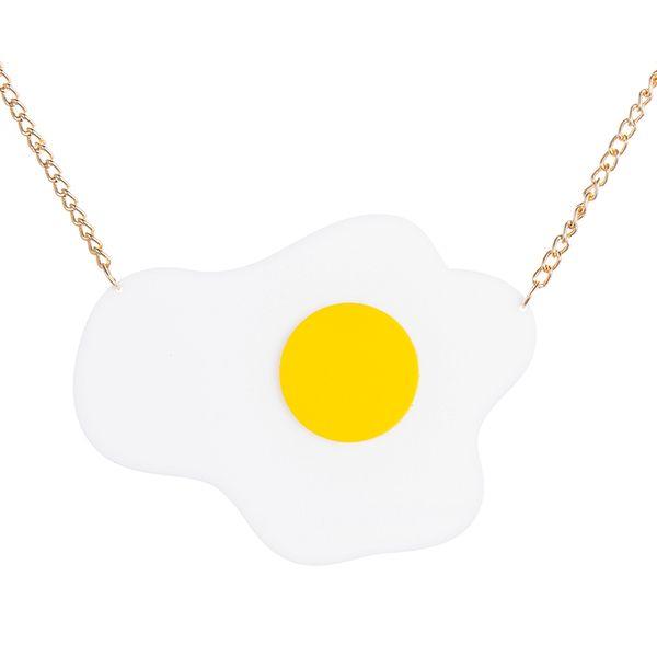 2018 Neueste Minimalistische Design Goldene Charme Kette Halsketten Für Frauen Schöne Große Ei Form Lange Halskette Erklärung Schmuck Heißer