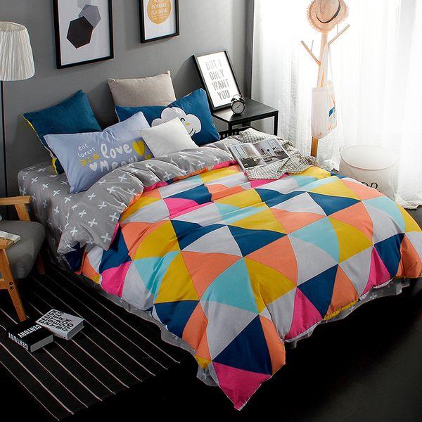 Nuevo diseño, juegos de cama de 3/4 piezas juegos de cama colcha edredón / sábana plana / fundas de almohada, tamaño Twin / Full / Queen / King / Super King 5
