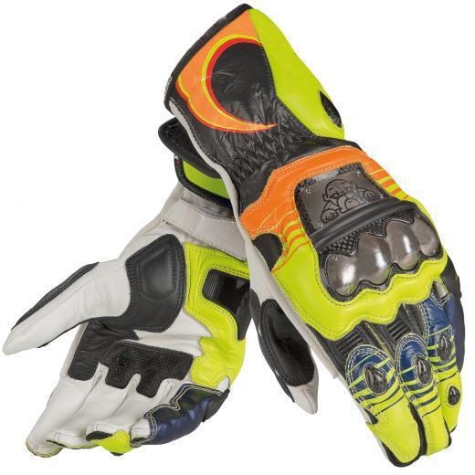 NEW 2018 Dain long gloves motorcycle racing MOTO GP street motocross Leather Men yellow gloves
