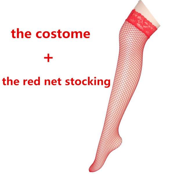 rosso Con le calze