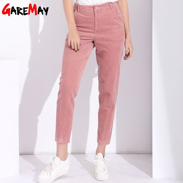 garemay harem pants women's trousers with high waist female loose casual corduroy pants womens large size women pant 2018
