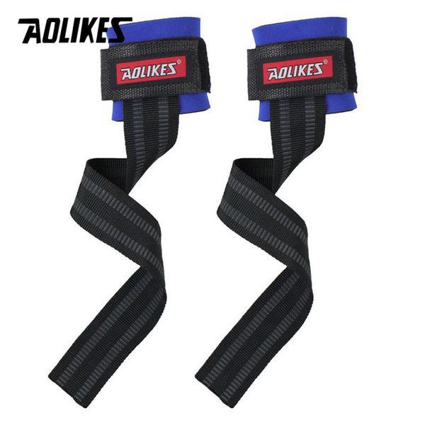 AOLIKES 2 Pz / lotto Palestra Sport Wristband Fitness Manubri Allenamento Supporto per il polso Cinghie Con Fasce Manuali Mano Bar Orizzontale