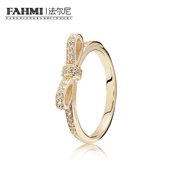 FAHMI 100% 925 Sterling Silver 1:1 Original Authentic Charm 150175CZ Temperament Fashion Glamour Retro Ring Wedding Women Jewelry